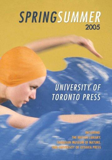 Spring/Summer 2005 - University of Toronto Press Publishing