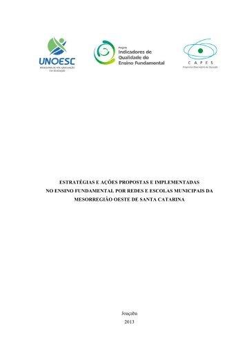 Download do relatório - Indicadores de Qualidade - Unoesc