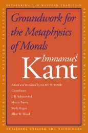 Groundwork for the Metaphysics of Morals: Immanuel Kant