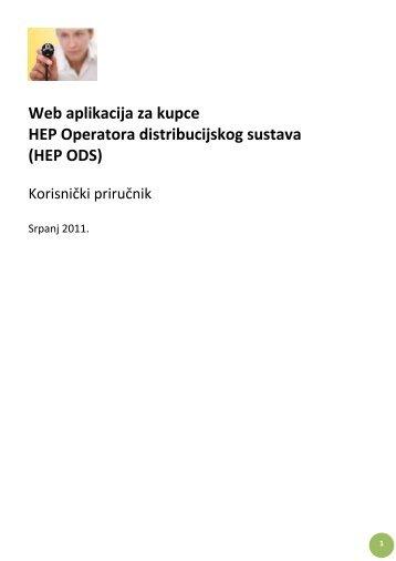 Web aplikacija za kupce HEP Operatora ... - HEP ODS-a