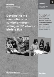 Developing the foundations for curricular target setting in ISP ...