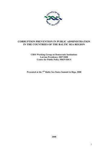 Corruption Prevention in Public Administration in the Countries of ...