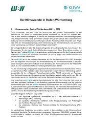Der Klimawandel in Baden-Württemberg - KLIWA