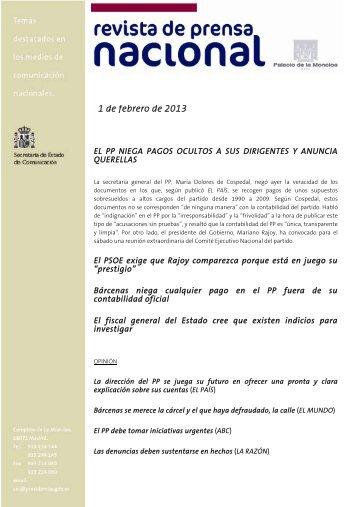1 de febrero de 2013 - La Moncloa
