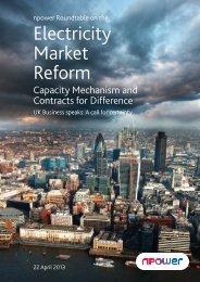 Electricity Market Reform - Npower
