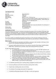 JOB DESCRIPTION Job Title: Senior Gardener Reference number ...