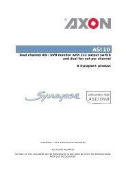 ASI10 Product Description (85.12 kB) - Axon