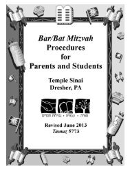 Bar/Bat Mitzvah Handbook - Temple Sinai