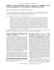Inhibitors of Bacterial Efflux Pumps as Adjuvants in Antibiotic Treat ...