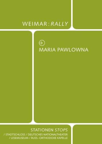 WEIMAR RALLY - Klassik Stiftung Weimar