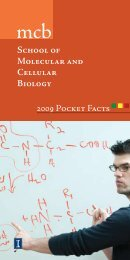 School of Molecular and Cellular Biology 2009 Pocket Facts