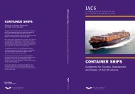 Container ships guidelines for surveys - IACS