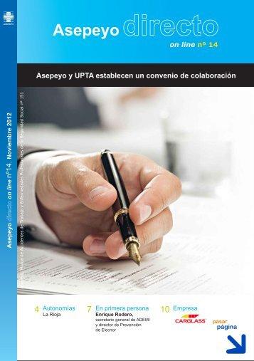 nº14. Asepeyo y UPTA establecen un convenio de colaboración