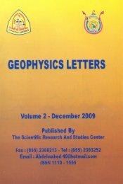 GEOPHYSICS LETTERS