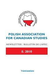 Polish association for canadian studies - Polskie Towarzystwo ...