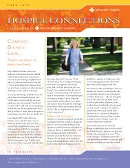 HOSPICe CONNeCTIONS - Advocate Health Care