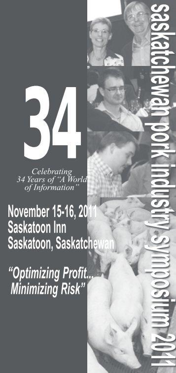 2011 brochure & program - SaskPork