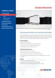 Aviation Restraints - AmSafe