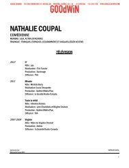 NATHALIE COUPAL - Agence Goodwin
