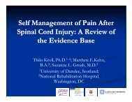 Self Management of Pain After Spinal Cord Injury: A Review of ...
