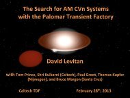 The Search for AM CVn Systems with the Palomar ... - Caltech