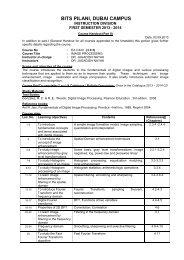 Course Handout - Student Welfare Division - BITS Pilani