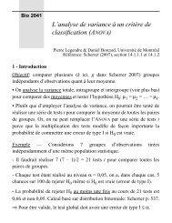 L'analyse de variance à un critère de classification (ANOVA)