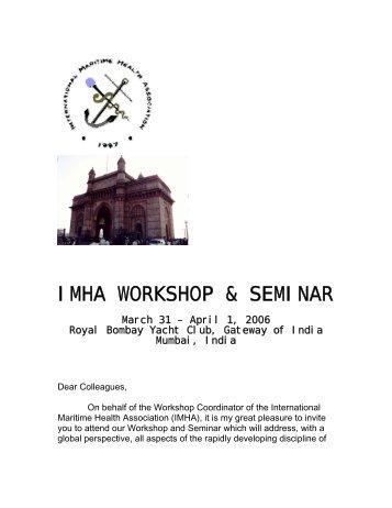 IMHA WORKSHOP & SEMINAR - SEMM