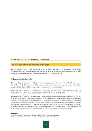 Infecciones en consumidores de drogas, 1986-2009 - Plan Nacional ...