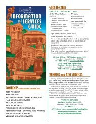 Auxiliary Services Information and Services Guide 2013-2014
