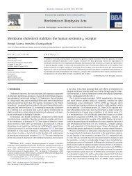 Membrane cholesterol stabilizes the human serotonin1A ... - CCMB