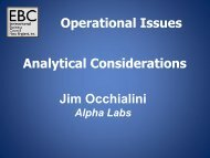 Jim Occhialini Operational Issues Analytical Considerations