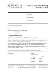 Warenkreditversicherung Atradius-Mustervertrag