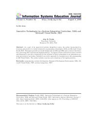 Innovative Technologies in a Systems Integration Curriculum: XML ...
