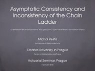 Asymptotic Consistency and Inconsistency of the Chain Ladder