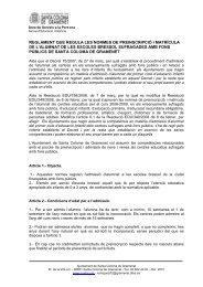 Reglament matrícula escoles bressol _3 - Ajuntament de Santa ...