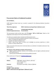 Procurement Notice of Individual Consultant - UNDP