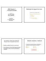 DNS Session 1: Principes de base Historique du support de cours ...
