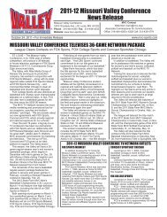 2011-12 Missouri Valley Conference News Release