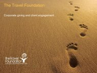 Supporting Sustainable Development in Tourism Destinations