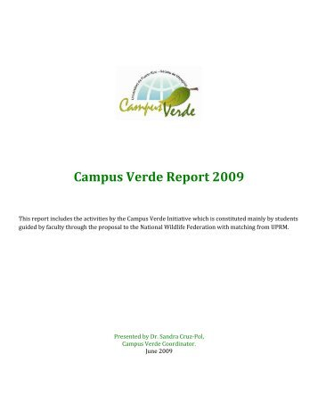 Campus Verde Report 2009 - UPRM