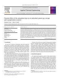 Thermal effect of the adsorption heat on an adsorbed natural gas ...