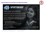 School Based Traineeships and Apprenticeships