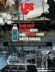 equipment restoration and repair from water damage - LPS Labs
