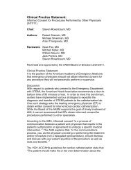 Clinical Practice Statement: Informed Consent - AAEM