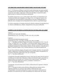LEY ORGANICA DE REGIMEN MONETARIO Y BANCO ... - Felaban