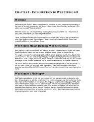 chapter 1 - Web Studio 5.0
