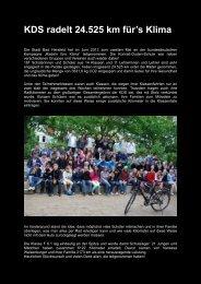 KDS radelt 24.525 km für's Klima - Konrad-Duden-Schule
