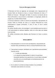 Concurso Mensagens de Natal O Município de Cuba vai organizar ...
