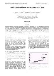EUSO-IT DFF 400/02/03 - Dipartimento di Fisica e Astronomia
